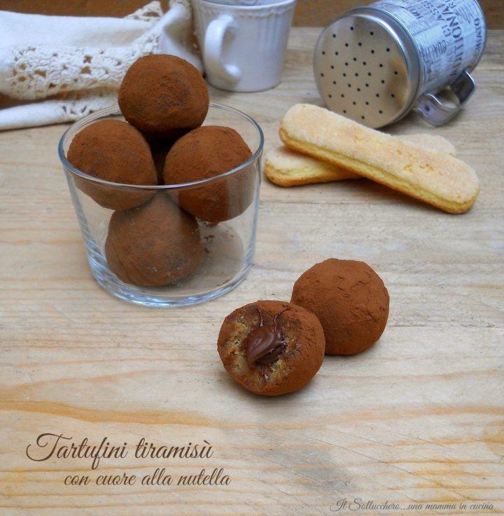 Tartufini Tiramisù con Cuore Morbido alla Nutella