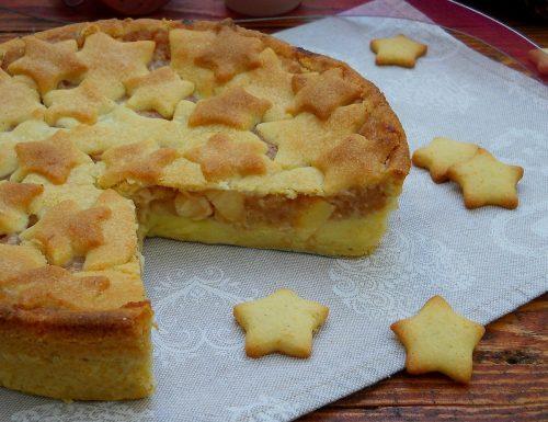Crostata di mele e crema pasticcera con frolla agli agrumi