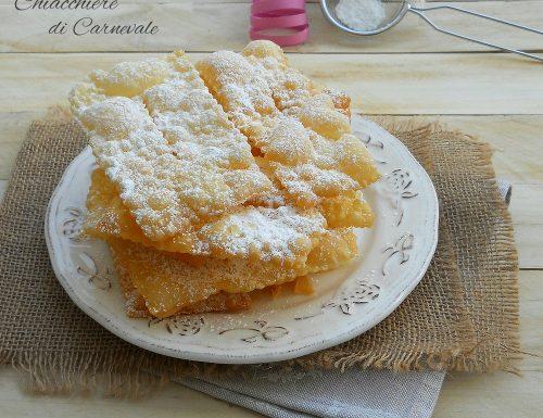 Chiacchiere di Carnevale, ricetta di Iginio Massari