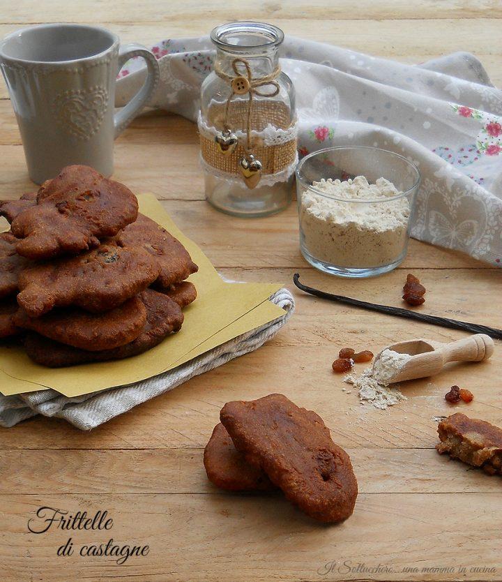 Frittelle di Castagne con Uvetta e Pinoli