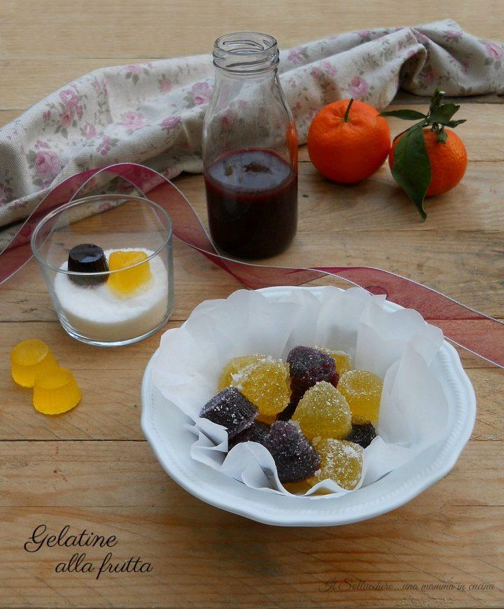 Gelatine alla frutta caramelle gel e fatte in casa for Casa di caramelle