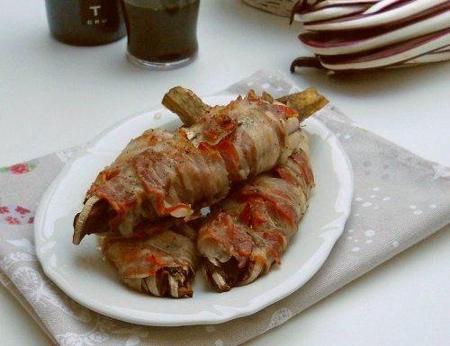 Radicchio al forno con pancetta affumicata