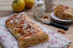 Treccia svedese alle mele con pan brioche allo yogurt