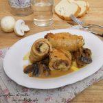 Involtini di pollo con speck, funghi e formaggio