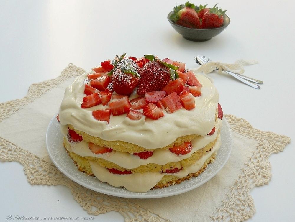 torta con fragole e zabaione, dolce semplice di sicura riuscita