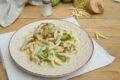 Trofie zucchine speck e robiola