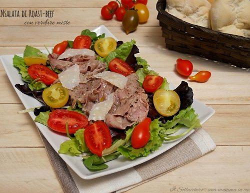 Insalata di roast-beef e verdure miste