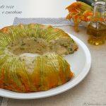 Timballo di riso e zucchine con mozzarella