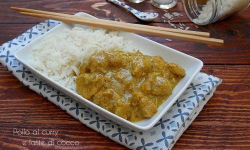 Pollo al curry e latte di cocco