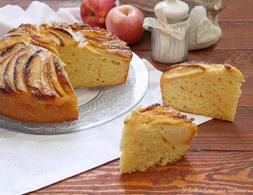 Torta di mele, ricotta e limone. Sofficissima e senza burro