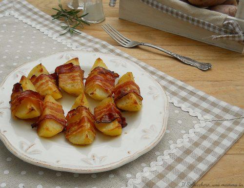 Patate al forno con pancetta affumicata