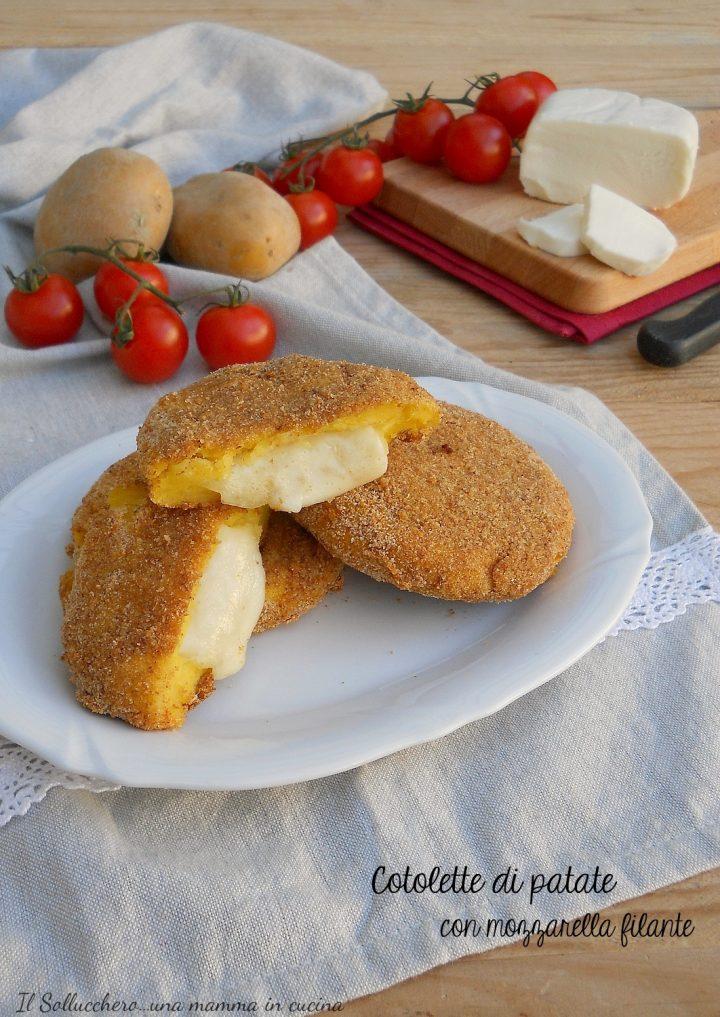 Cotolette di Patate con Mozzarella Filante