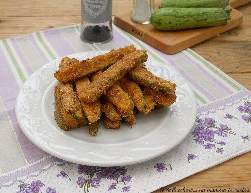 Stick di zucchine fritti o al forno