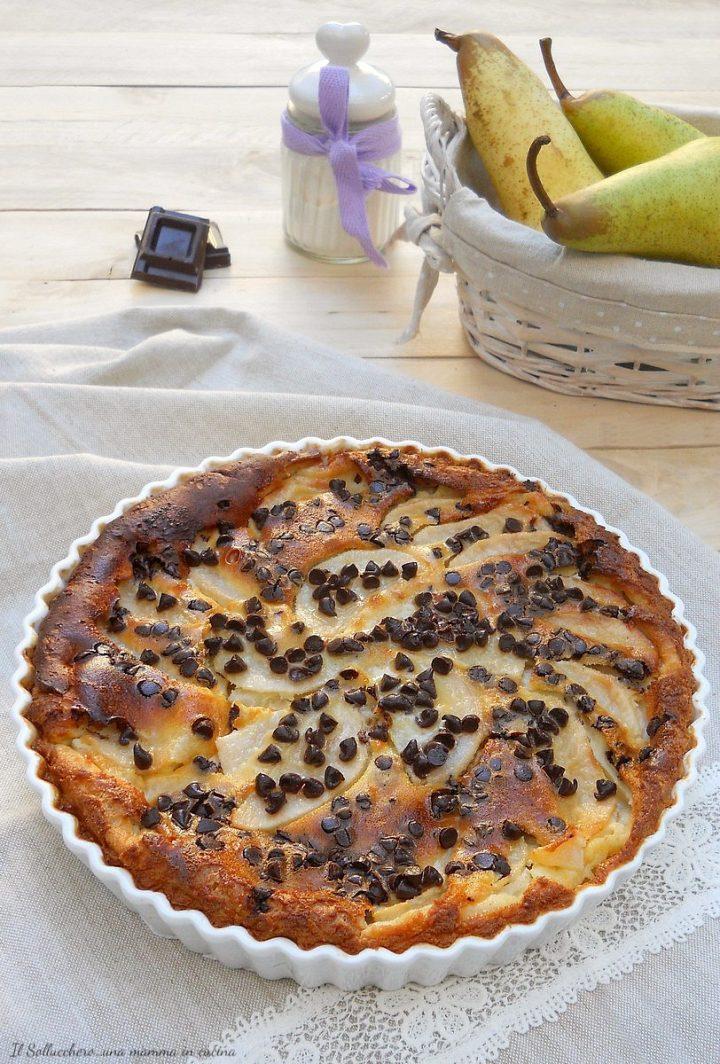 Clafoutis Pere e Cioccolato