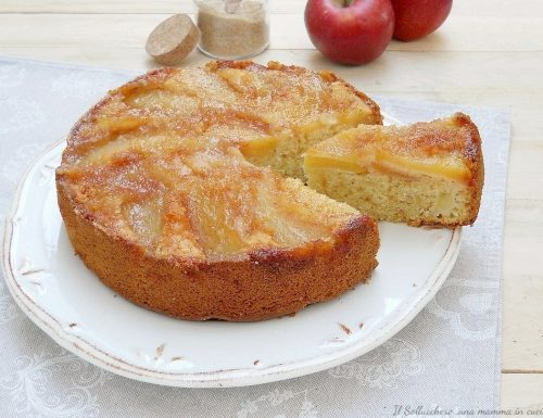 Torta di mele rovesciata senza burro