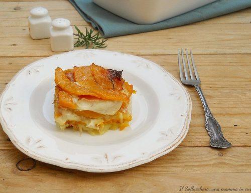 Sformato di zucca e patate con speck e scamorza