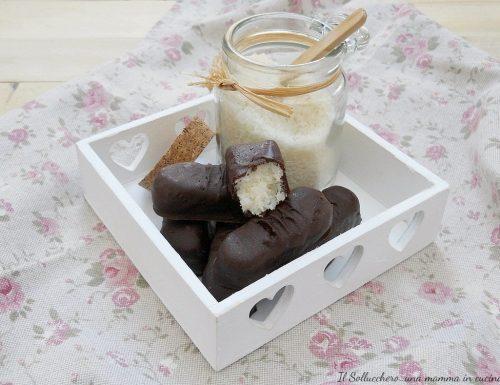 Barrette al cocco ricoperte di cioccolato