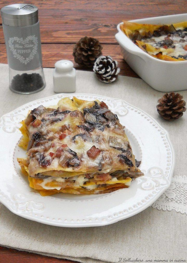 Lasagne al Radicchio e Pancetta