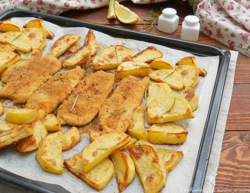 Petto di pollo con patate al forno