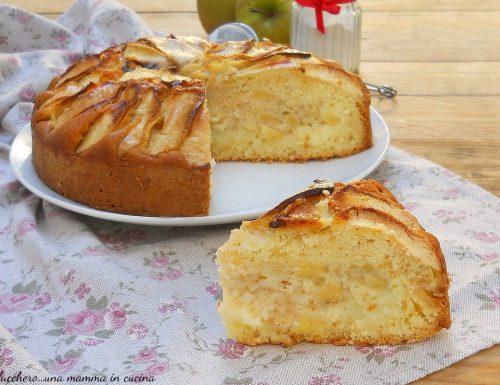 Torta di mele e crema senza burro