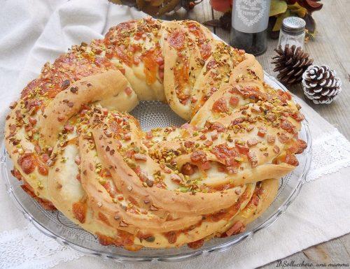 Angelica salata con mortadella, pistacchi e caciocavallo