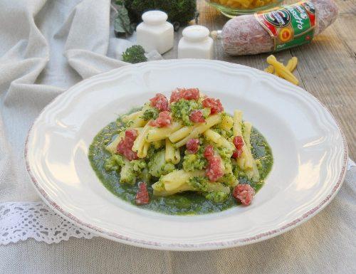 Caserecce con broccoli e salame Golosetto Clai