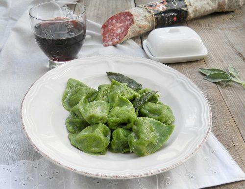 Balanzoni, tortelli verdi ripieni di ricotta e salame Contadino Clai