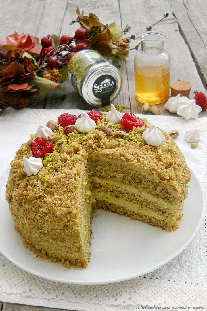 torta mimosa al pistacchio verticale