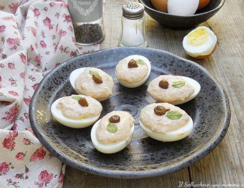Uova sode con salsa tonnata