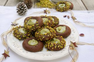 biscotti al cacao con crema al pistacchio oriz