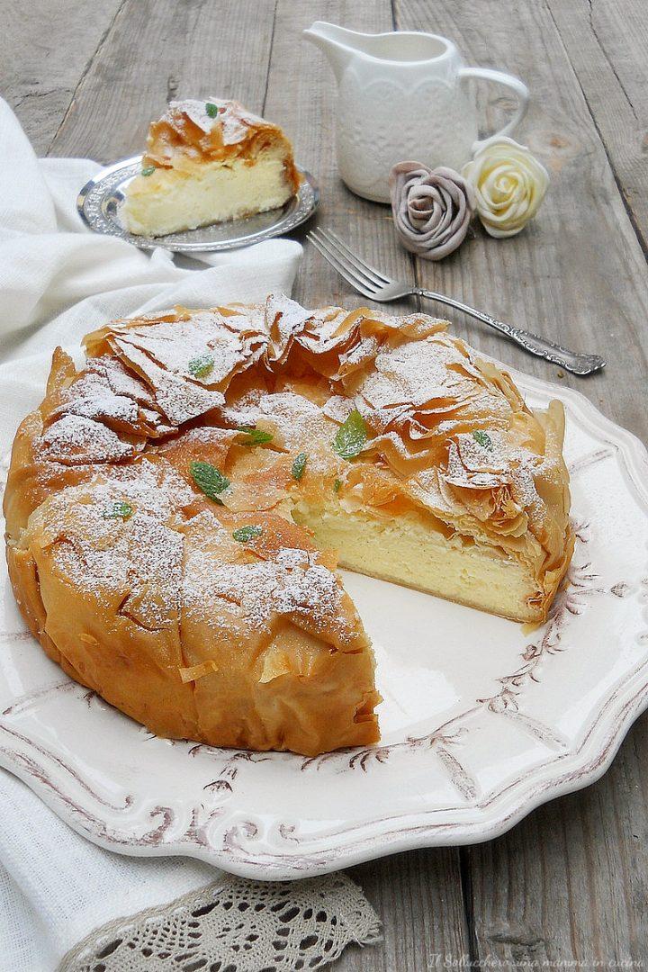 cheesecake al limone con pasta fillo vert