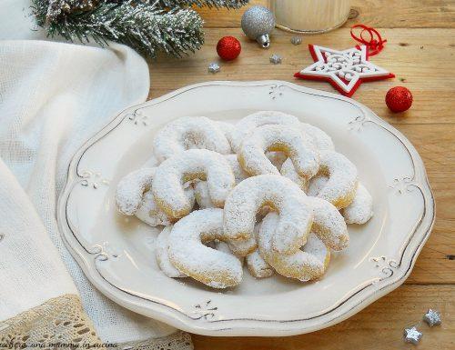 Vanillekipferl biscotti di Natale alla vaniglia