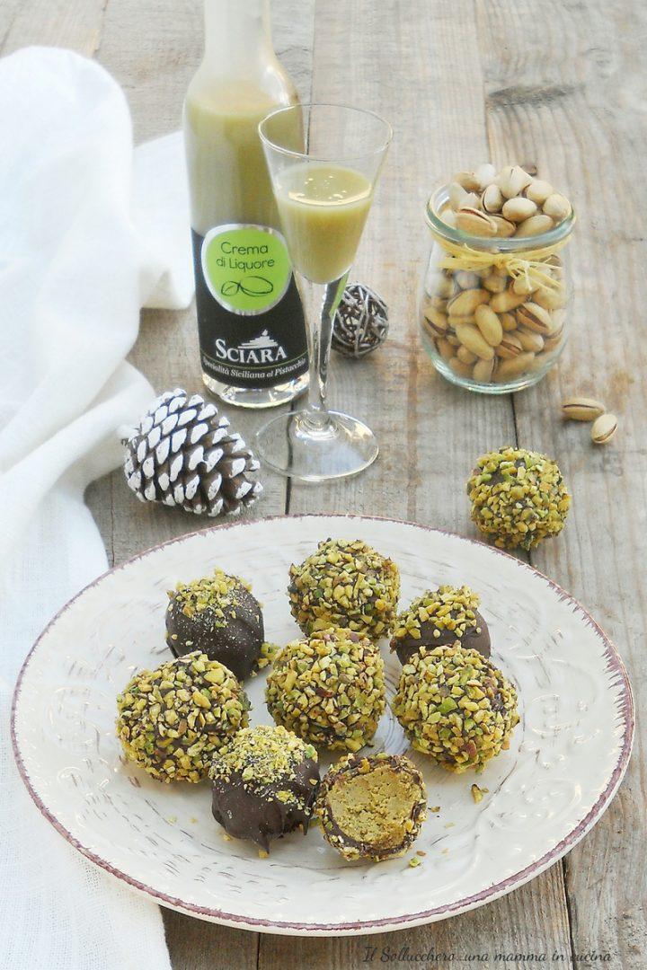 tartufini al pistacchio e cioccolato vert
