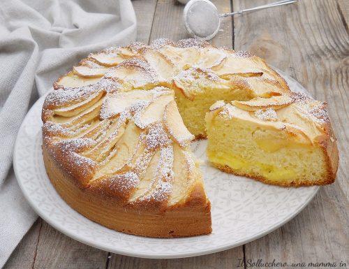 Torta Nua con crema e mele