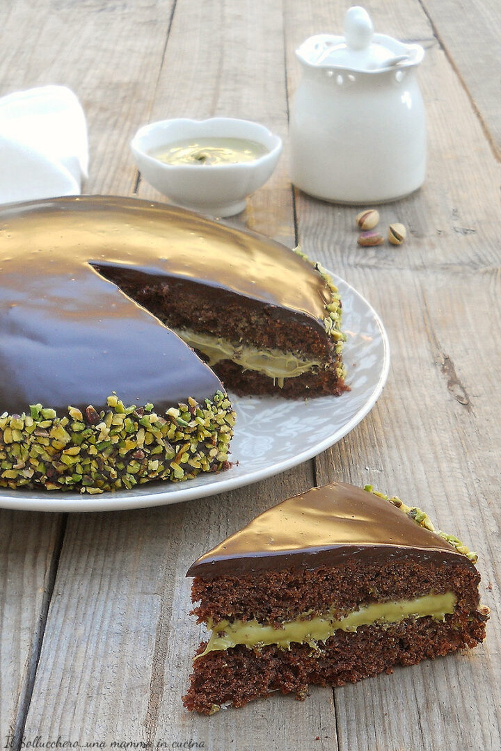 torta pinguino al pistacchio vert