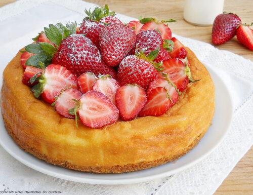 Cheesecake alle fragole e ricotta
