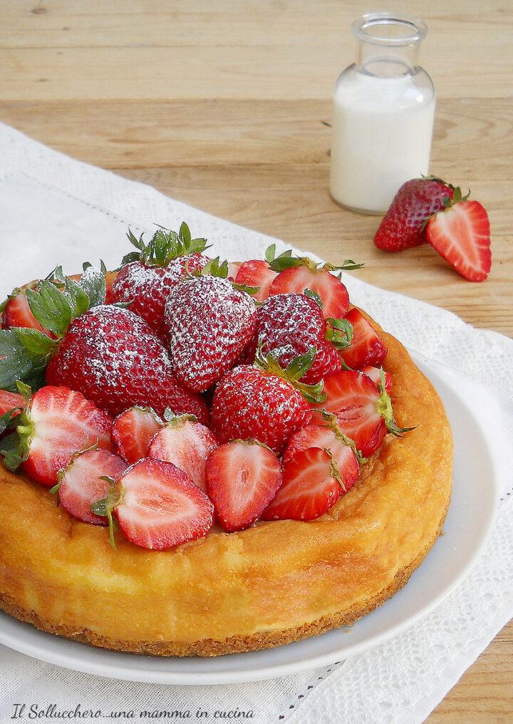 cheesecake alle fragole e ricotta vert