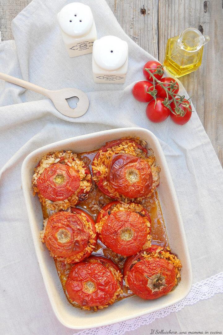 pomodori ripieni di riso al forno vert