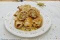 Involtini di pollo con speck e pistacchi