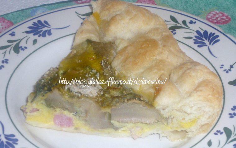 TORTA DI CARCIOFI E PANCETTA