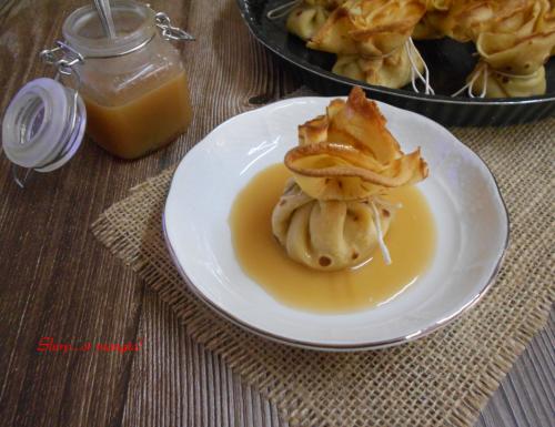 Fagottini di crepes con ricotta e mele