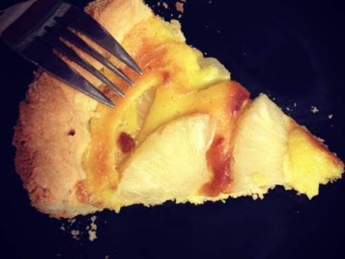 Crostata crema e ananas senza glutine