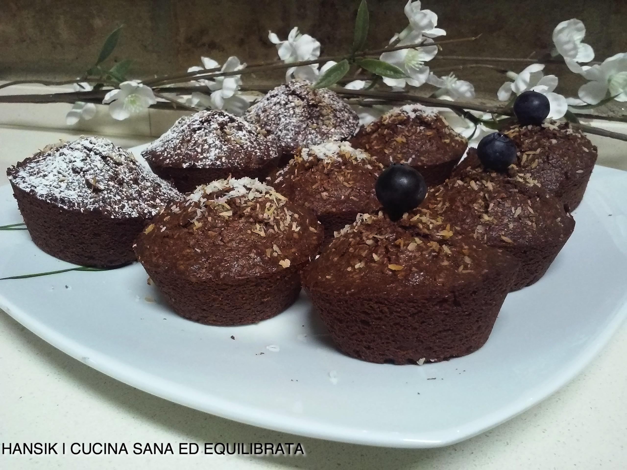 Muffin al cioccolato e cocco senza glutine