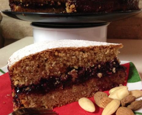 Torta di grano saraceno e marmellata ai mirtilli rossi ricetta tipica trentina