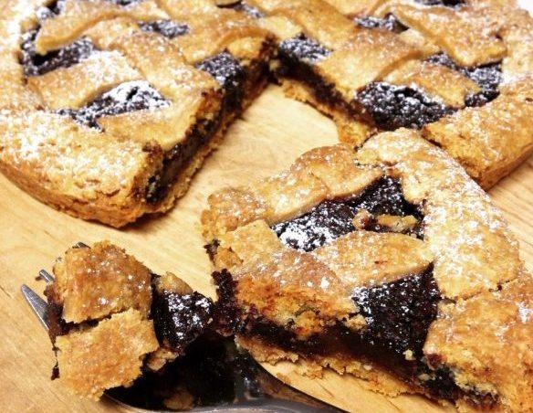Crostata pere e cioccolato (con farina di farro)