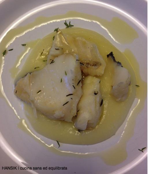 Baccalà Al Vapore Con Crema Di Patate E Cipolla Hansik