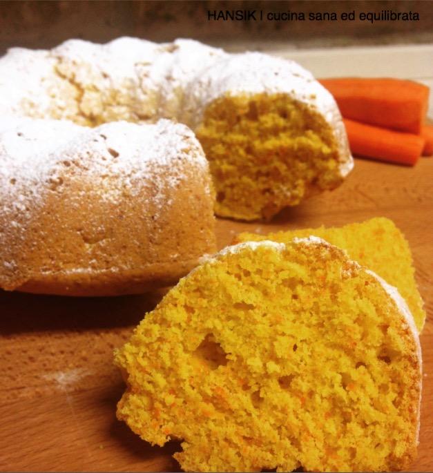 Torta di carote e mandorle, senza burro