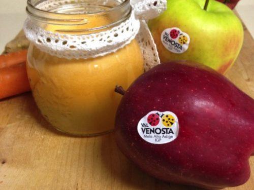 Centrifugato mela, carote e zenzero