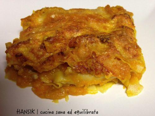 Lasagne zucca e salsiccia, al kamut e senza besciamella