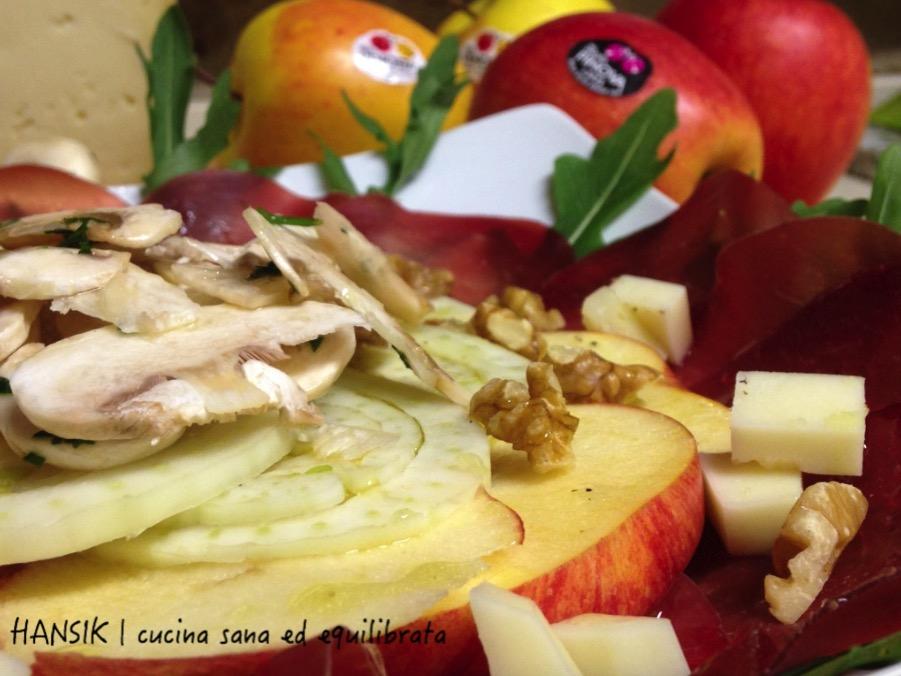 Carpaccio di bresaola con mele, Casera e champignon   HANSIK